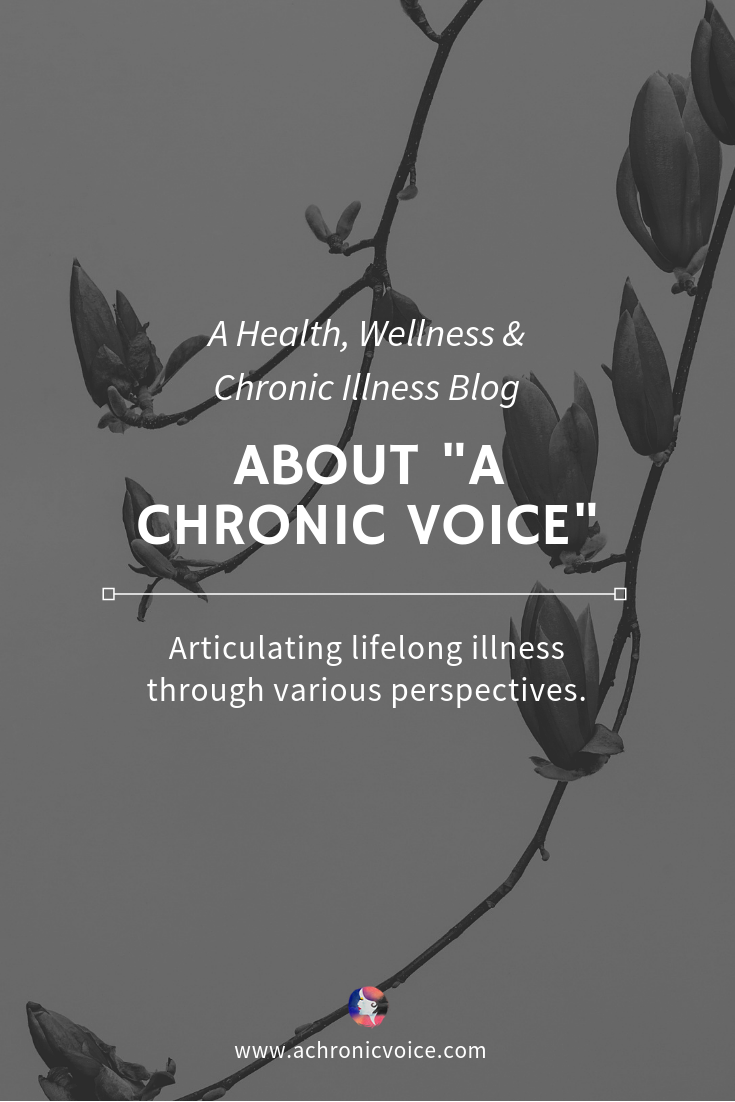 "About ""A Chronic Voice"" page pin image"