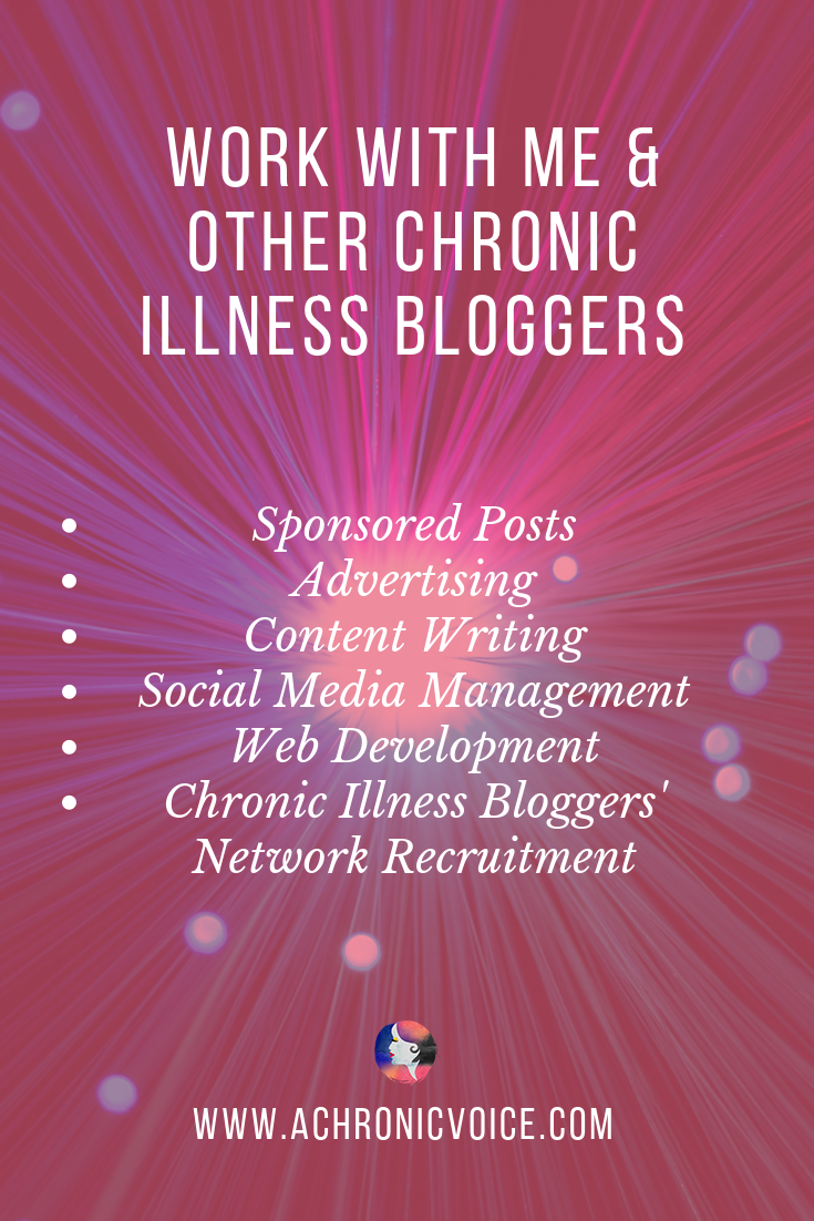 Work with A Chronic Voice Pinterest Image