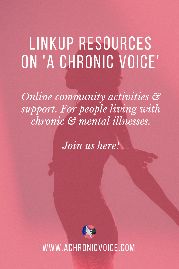 Linkups: Blog & Share About Your Life with Chronic & Mental Illness Pinterest Image