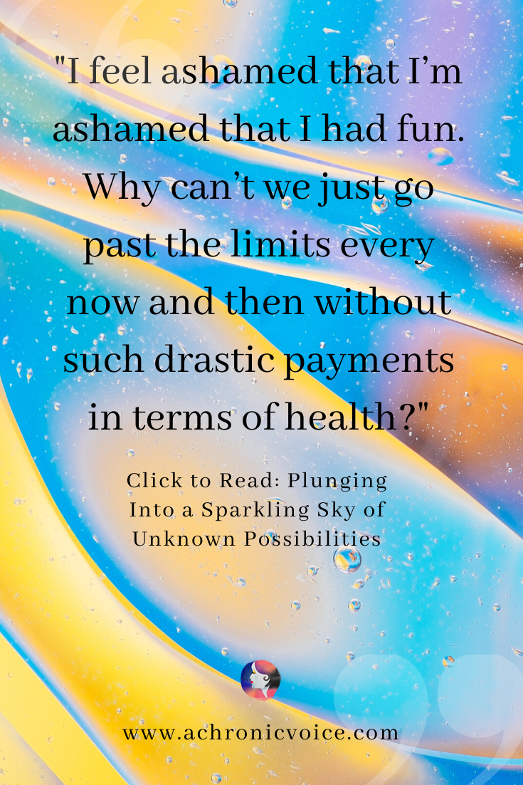 'I feel ashamed that I'm ashamed that I had fun. Why can't we just go past the limits every now and then without such drastic payments in terms of health?' Pinterest Quote