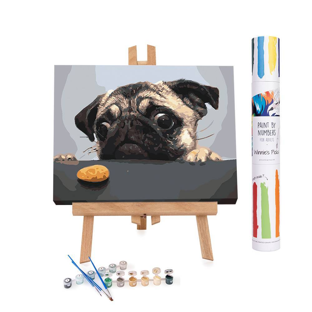 Winnie's Picks: Pain by Numbers: Hungry Pug Dog | A Chronic Voice Christmas Giveaway