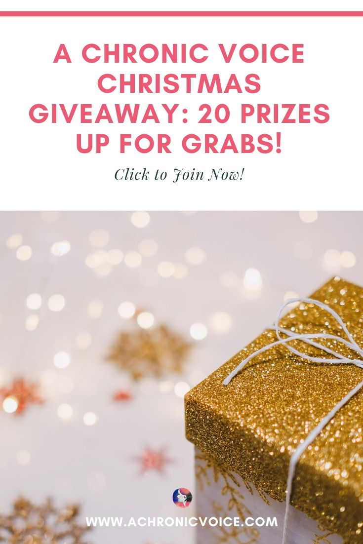 This Year's Grand Christmas Giveaway on A Chronic Voice (8 Awesome Products Up for Grabs!) Pinterest Image