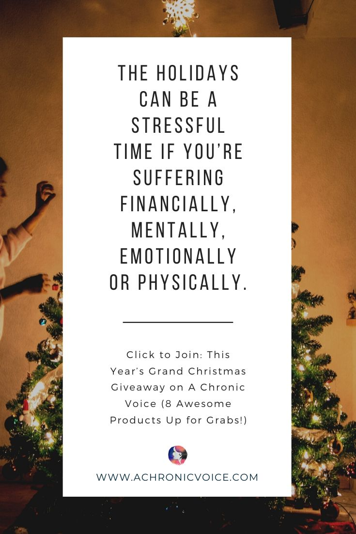 'The holidays can be a stressful time if you're suffering financially, mentally, emotionally or physically.' Pinterest Quote