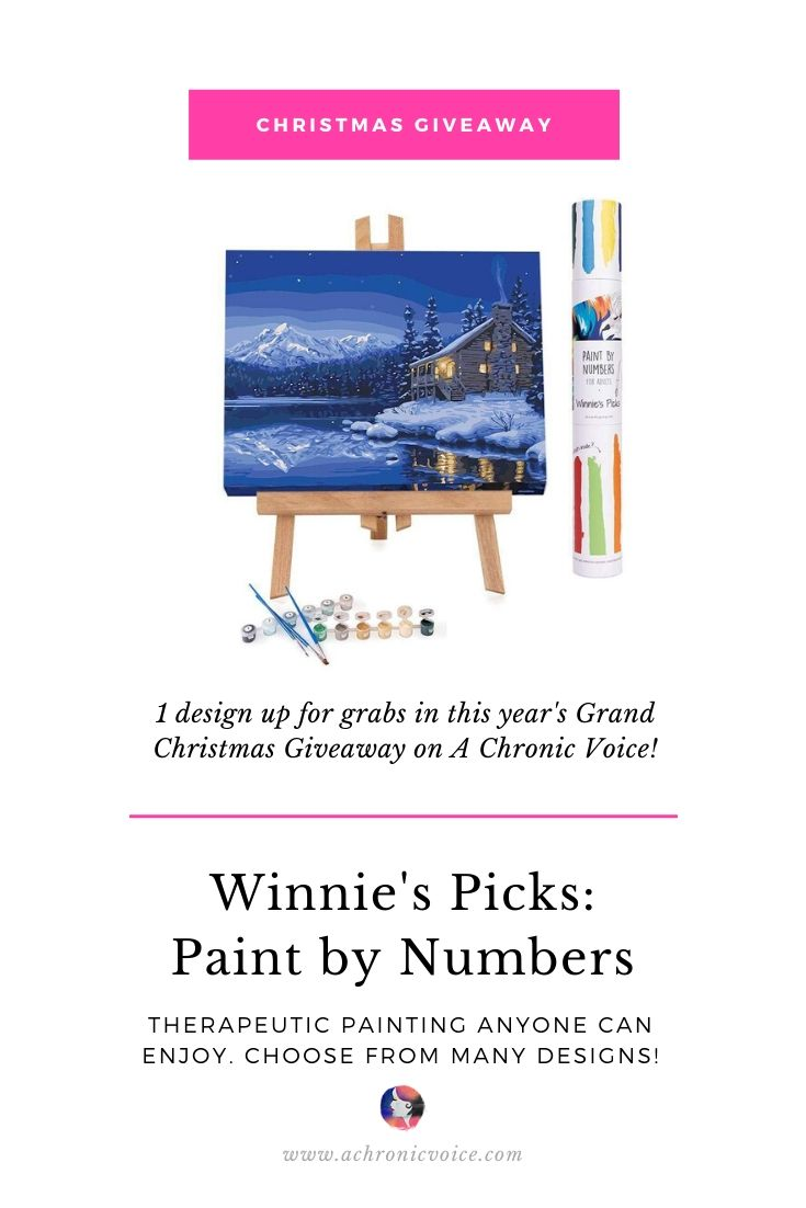 1 Winnie's Picks: Paint by Numbers Up for Grabs in the Grab Christmas Giveaway on A Chronic Voice. | Pinterest Image