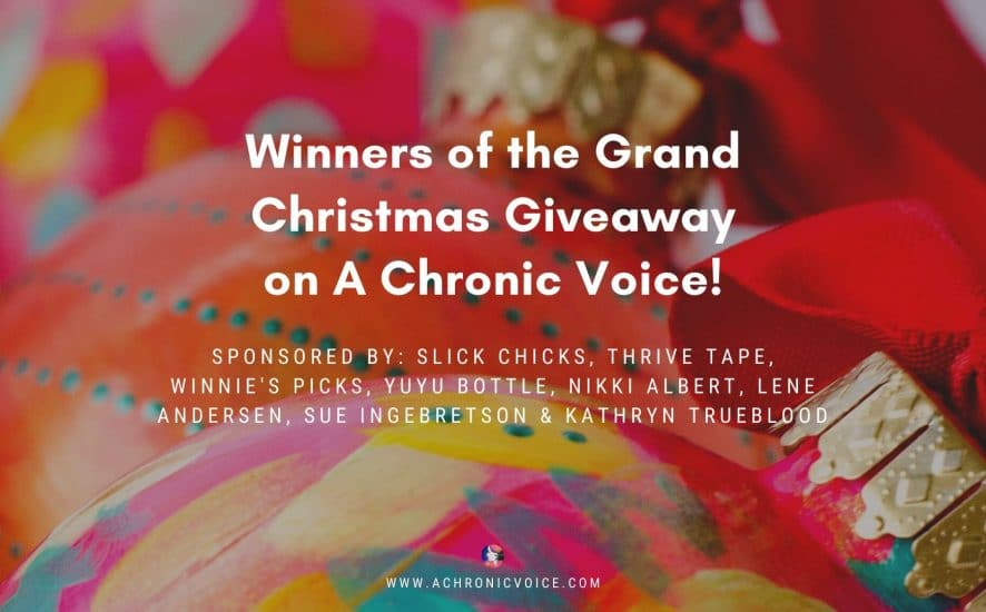 Winners of the Grand Christmas Giveaway on A Chronic Voice!
