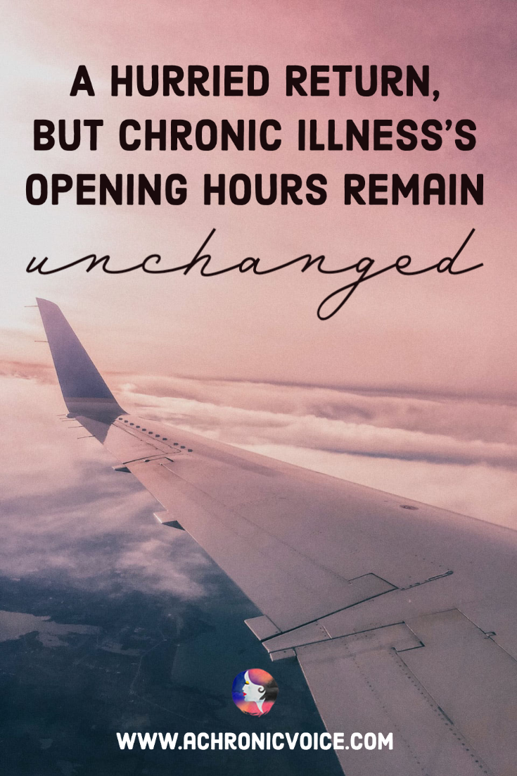 A Hurried Return, but Chronic Illness's Opening Hours Remain Unchanged | A Chronic Voice