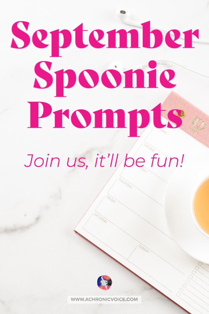 September Spoonie Writing Prompts