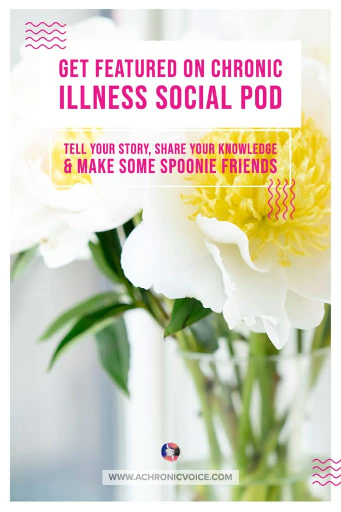 We've also started an Instagram account where we're featuring spoonies, their medical conditions, stories and accounts. Anyone is welcome to be featured, whether they're part of our Facebook Group or not. Get in touch with all of us on Instagram here. #spoonies #chronicillness #chronicpain #cisp #chronicillnesssocialpod