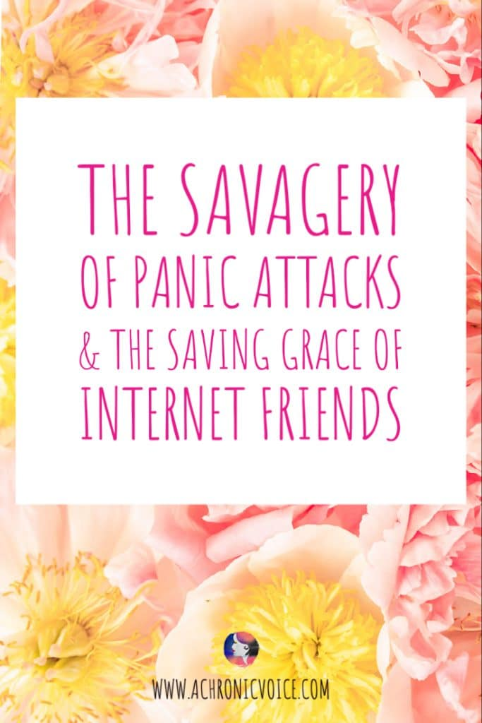 Read: The Savagery of Panic Attacks & The Saving Grace of Internet Friends /// Anxiety and panic attacks have been plaguing me with the lockdown and lock in. But a new pup and internet friends with chronic illness have sustained me. #internetfriends #chronicillness #mentalillness