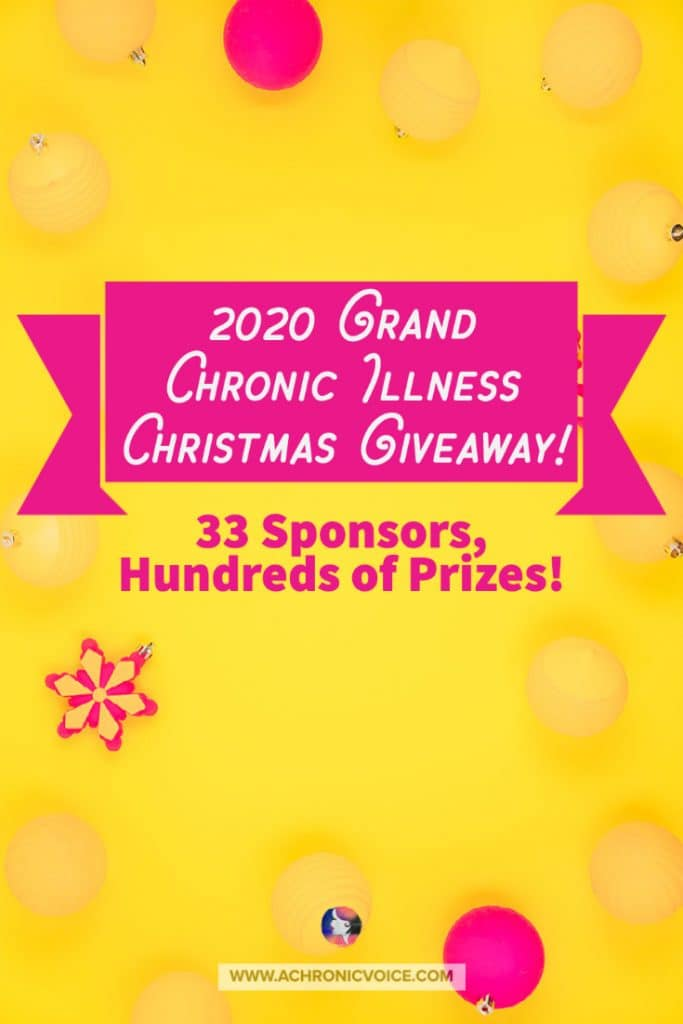 Chronic Illness Christmas Giveaway: GIfts for Every Body in Pain This Lonely Pandemic Season! I couldn't be more grateful for these sponsors' generosity and kindness. They are a mix of professional brands and companies, and also individuals living with chronic illness or disability, who want to give a little something back to the community. #chronicillness #disability #christmasgiveaway