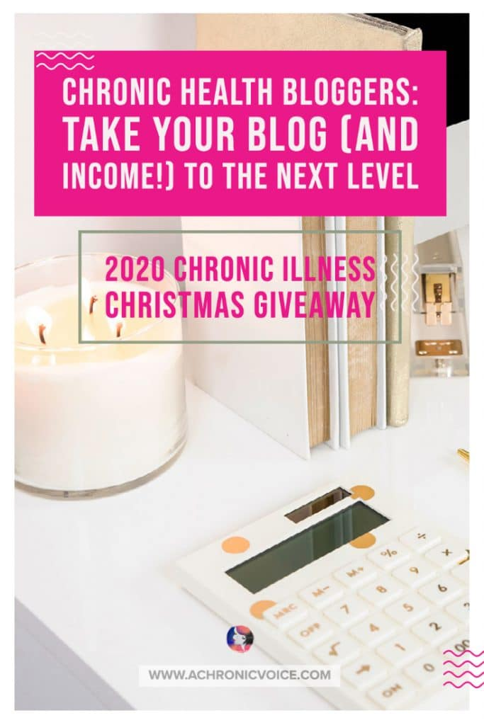 Are you someone with chronic illness who's looking to starting a blog, and maybe earn some income from it along the way? If so, then Kate Mitchell's e-book is written with you in mind! She is giving away a copy this Christmas here. #chronicillness #bloggers #bookgiveaway