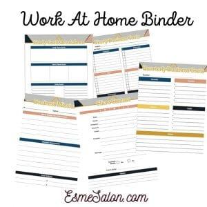 Work at Home Binder by Esme Slabbert