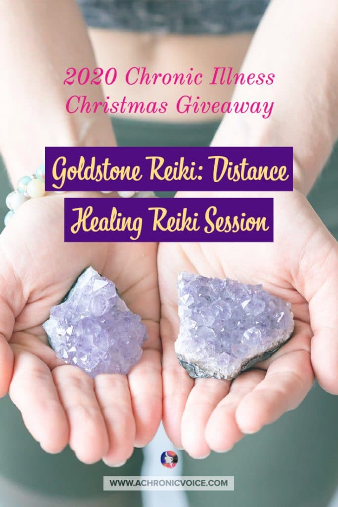 I am more than happy to share Catherine of Goldstone Reiki's giveaway this Christmas with you, because Reiki has been such an instrumental part of her own healing journey. She is offering two distance healing Reiki sessions that can be done over Zoom. #reiki #distancehealing #painmanagement