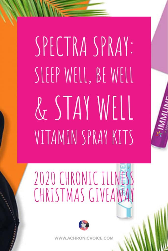Made with an advanced micro-emulsion technology, Spectra Spray's oral sprays ensure maximum absorption. They are also made without binders, fillers, artificial colours, dyes or allergens. Which is great news for those with certain chronic illnesses who are sensitive to them! Win a set and more here! #spoonies #christmasgiveaway #chronicillness