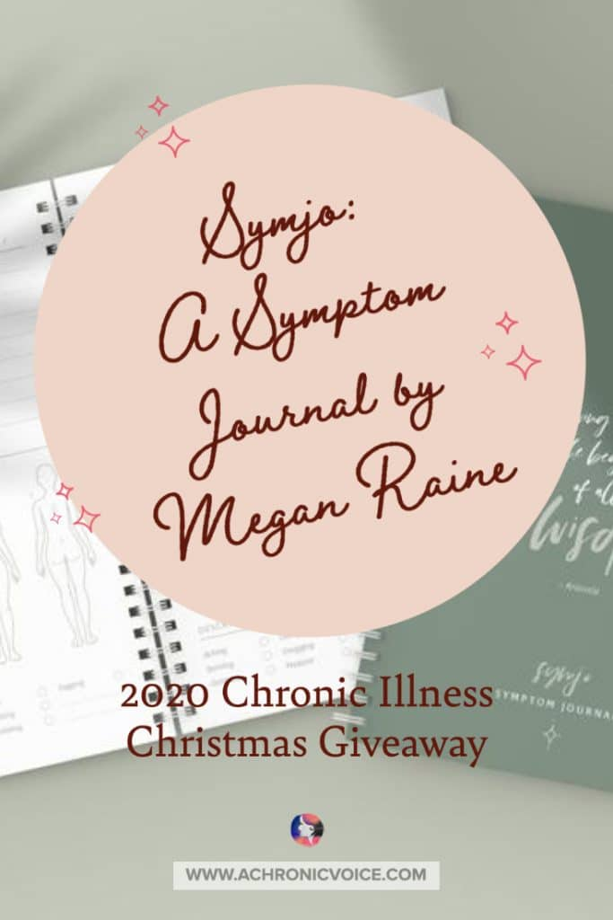 Megan lives with endometriosis, a painful chronic condition. Symjo was born from a mix of her passion for design, and wanting to help make the lives of others with chronic illnesses a little more organised and manageable, too. She's giving away 1 of these journals for Christmas! #chronicillness #chronicpain #journal