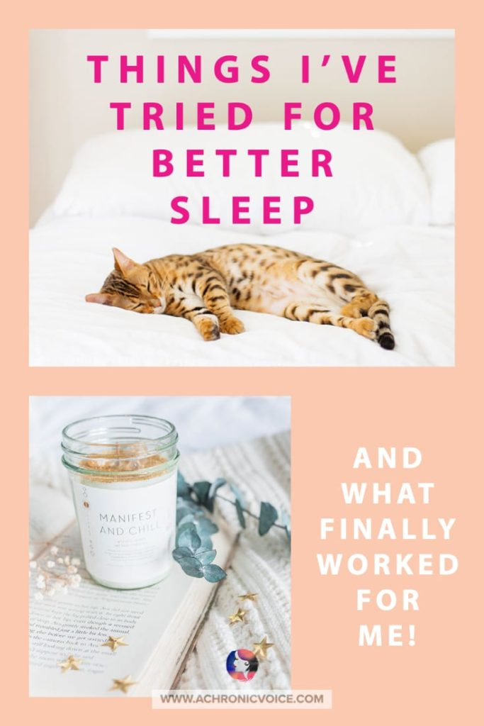 Things I've Tried for Sleep - And What Finally Worked For Me!