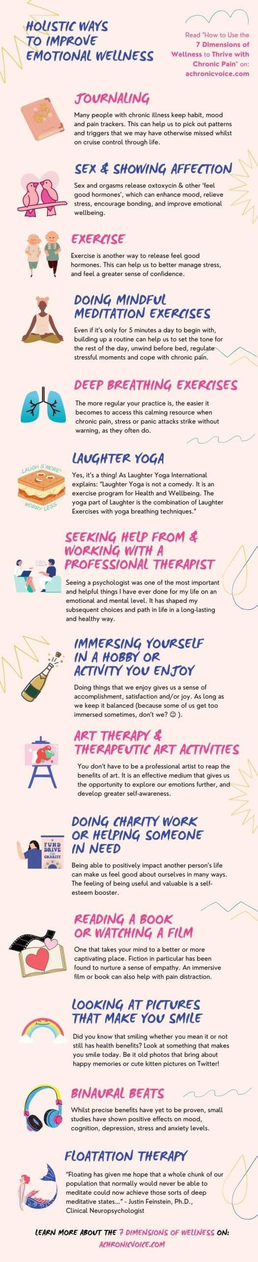 Holistic Ways to Improve Emotional Wellness Infographic