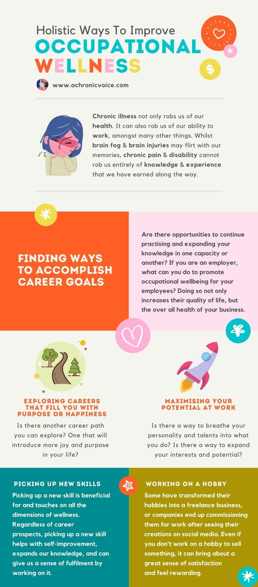 Holistic Ways to Improve Occupational Wellness Infographic