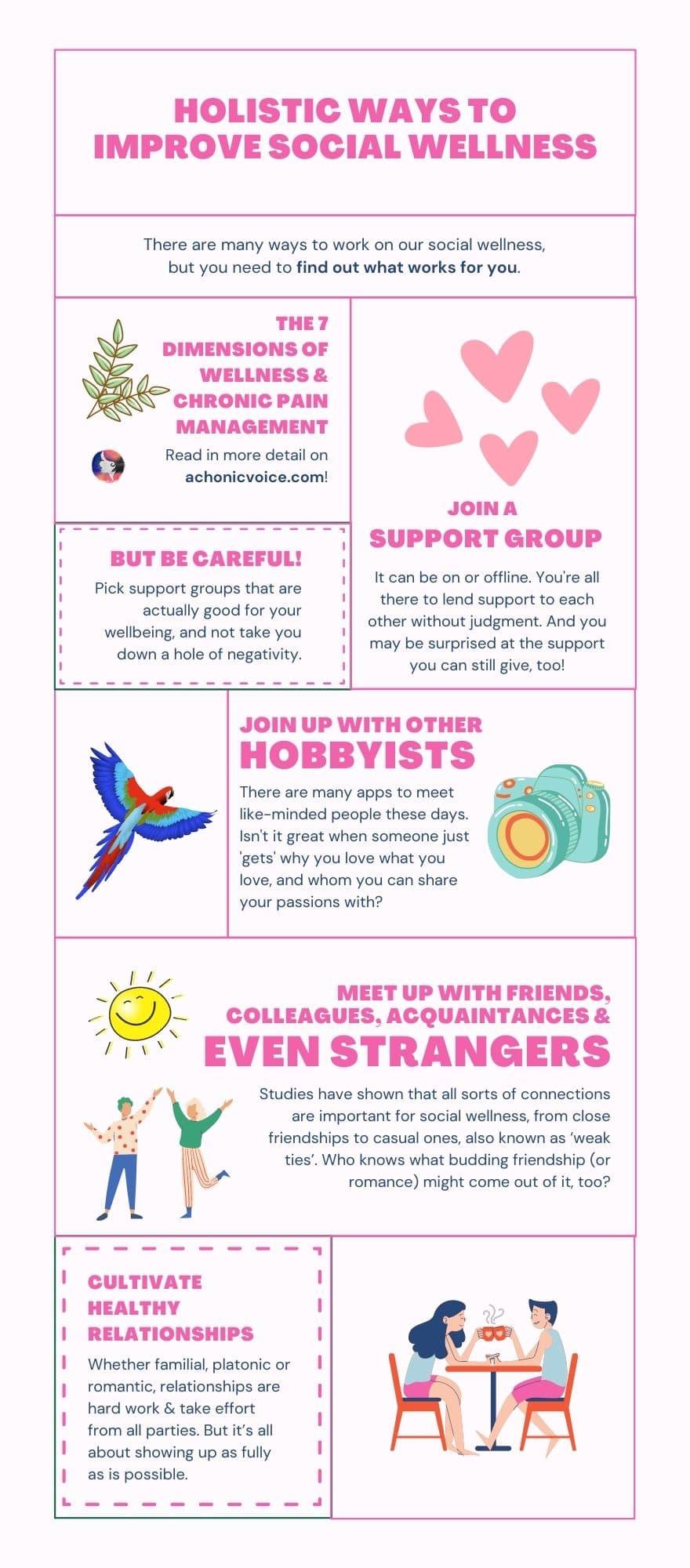 Holistic Ways to Improve Social Wellness - Infographic