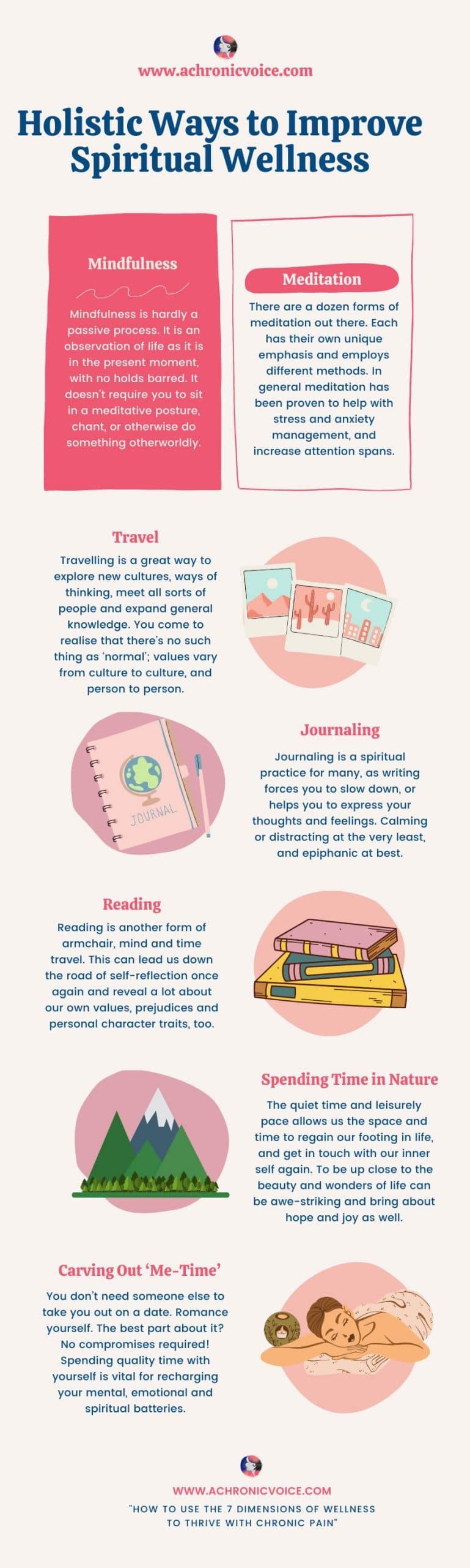 Holistic Ways to Improve Spiritual Wellness Infographic