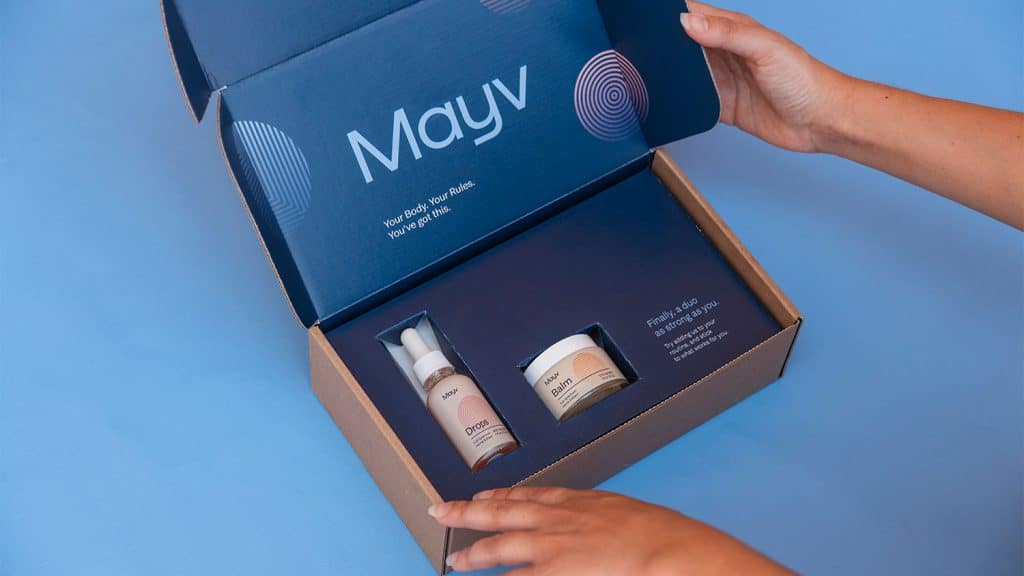 Mayv Packaging for CBD Drops and Balm