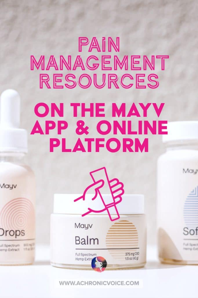 Pain Management Resources on the Mayv Mobile App and Online Platform